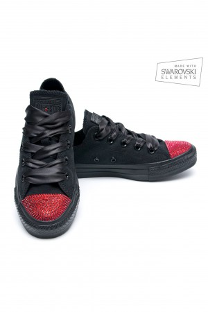 Converse Swarovski with Red Crystals