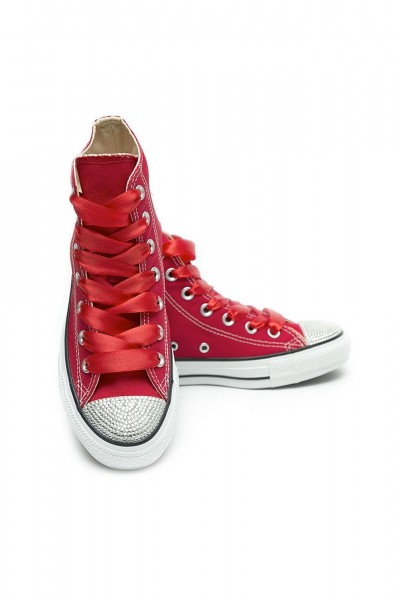 Converse Crystal Hightop Red