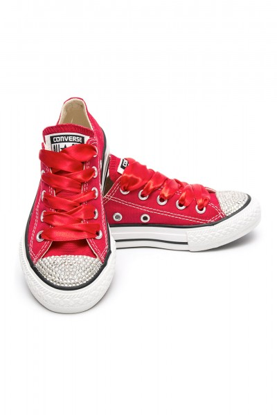 Converse Crystal Red Silver
