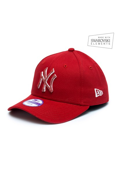 New Era Scarlet/White LA youth with Light Siam
