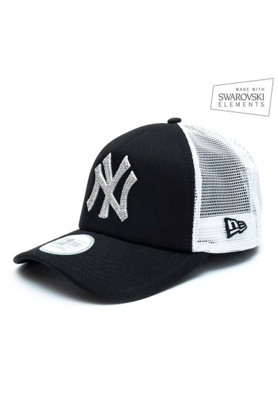 New Era Trucker Black/White