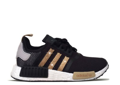 Women's Adidas NMD R1 with Gold Swarovski Crystals LIMITED EDITION