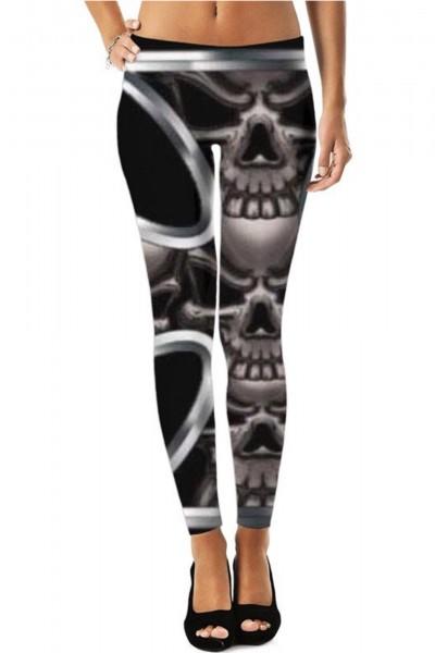 Abstract Goth Rocker Leggings