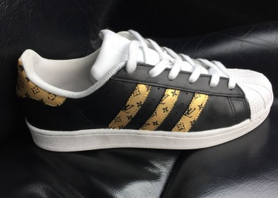 Custom Louis Vuitton Adidas Superstar Sneakers