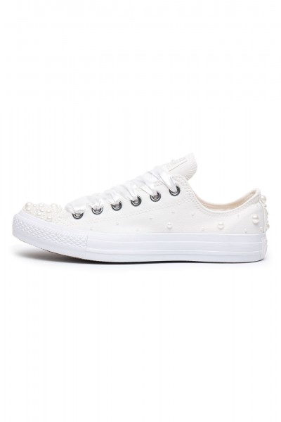 Converse Pearls Wedding edition