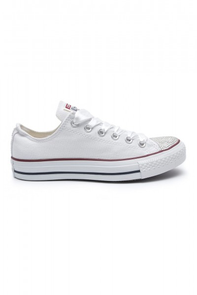 Converse Swarovski Low White