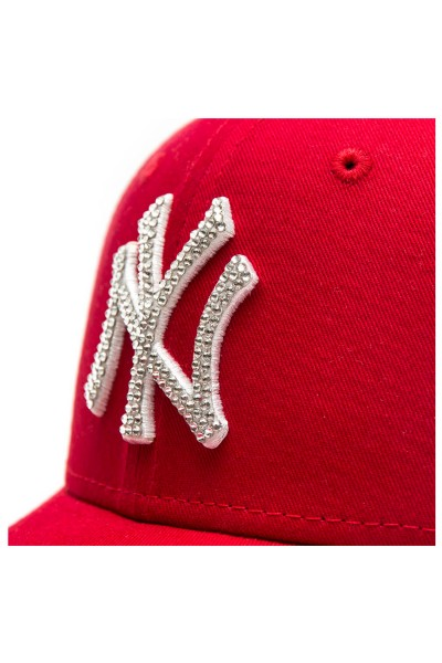 New Era Scarlet/White LA youth with Swarovski silver