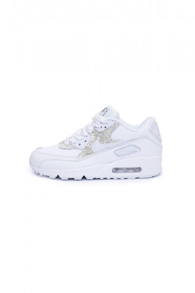 Nike Air Max 90 Swarovski trainers with Silver crystals