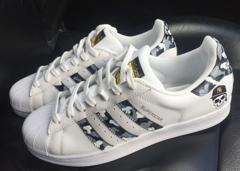 Custom Urban Camo Adidas Superstar Sneakers