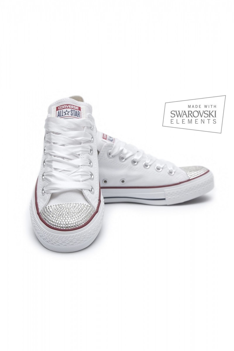 19d2d7d9150b Converse Swarovski Low White - UFab London