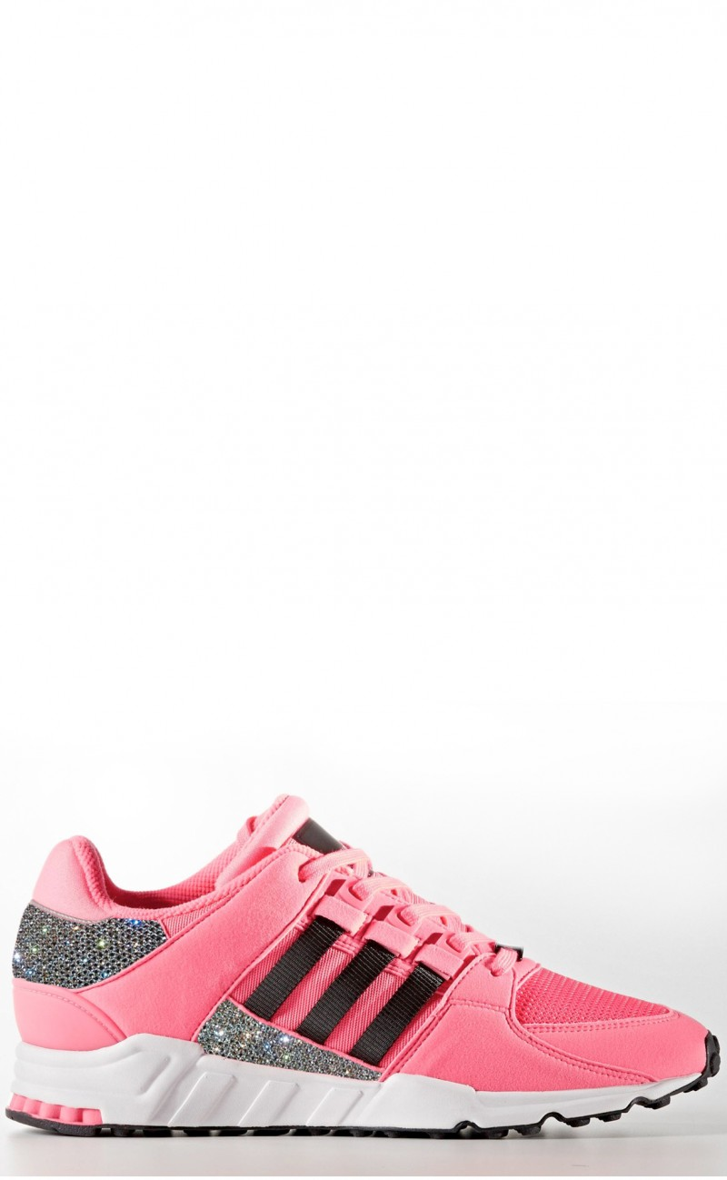 reputable site 5f3c1 ab2d2 Women's Pink Adidas EQT support rf with Swarovski Crystals LIMITED EDITION