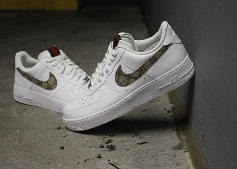 Custom Gucci canvas Nike Air Force 1 Low
