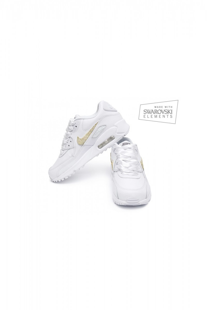 sports shoes 755fe f96aa Nike Air Max 90 Swarovski II with Gold crystals