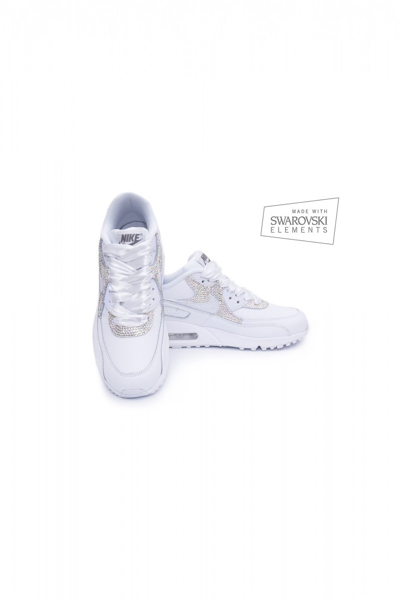 Nike Air Max 90 Swarovski trainers with AB crystals 3431a1f422