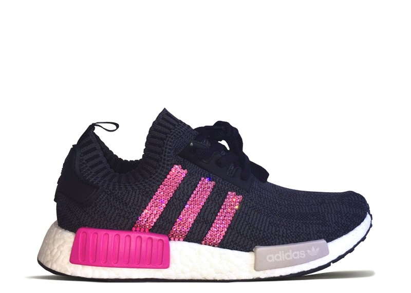 Women s Adidas NMD R1 with Pink Swarovski Crystals - UFab London 366fbbece