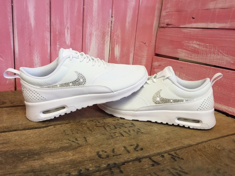 184d17b633 Swarovski Nike Air Max Thea Running Shoes White - UFab London